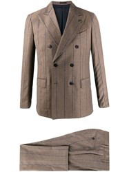 Gabriele Pasini Philosophy Striped Two Piece Suit Neutrals
