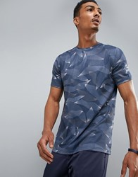 Perry Ellis 360 Sports T Shirt Linear Camo Print In Navy Mood Indigo