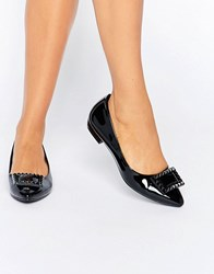 Daisy Street Point Black Flat Shoes Black