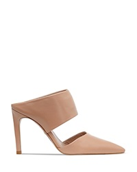 Whistles Mule Pumps Tilla Pointed Toe Nude