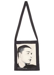 Raf Simons Isolated Heroes Ink Printed Denim Tote Navy