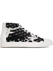 Pierre Hardy Graphic Print Hi Top Sneakers Black