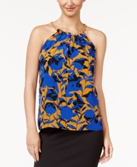 Thalia Sodi Floral Print Chain Detail Top Created For Macy's Lazulite Combo