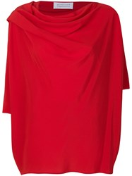 Gianluca Capannolo Draped Neck Blouse Red
