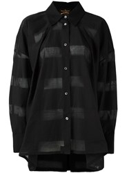 Vivienne Westwood Anglomania Striped Sheer Shirt Black