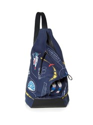 Loewe Galaxy Print Canvas Backpack