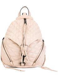 Rebecca Minkoff Quilted Backpack Nude Neutrals