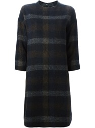 Stephan Schneider Plaid Knit Dress Blue