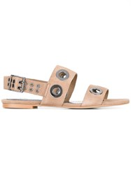 Diesel Circles Sandals Nude Neutrals