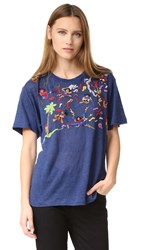 Banner Day Band Scene Embroidered Tee Navy