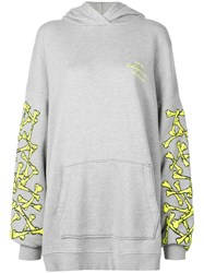 Amiri Bones Print Hoodie Dress Grey