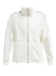 Adidas By Stella Mccartney Performance Logo Stripe Jacket White