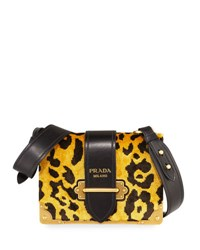 Prada Cahier Small Velvet Shoulder Bag Leopard