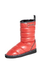 Moschino Quilted Boots Rosso
