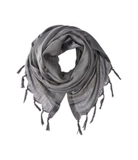 Love Quotes Linen Tassel Scarf Charcoal Scarves Gray