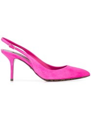 Dolce And Gabbana Bellucci Sling Back Pumps Pink Purple