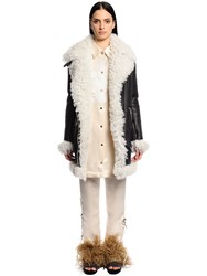 Sonia Rykiel Leather And Shearling Coat
