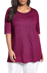 Eileen Fisher Plus Size Women's Organic Linen And Cotton Tunic Cerise