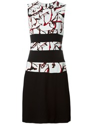 Proenza Schouler Splatter Print Shift Dress Black