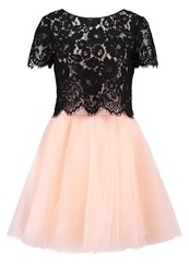 Derhy Gotha Cocktail Dress Party Dress Black Pink Apricot