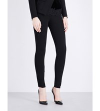 Givenchy Skinny Mid Rise Stretch Crepe Leggings Blk