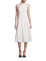 Alexander Wang Cotton Sleeveless Peplum Dress White