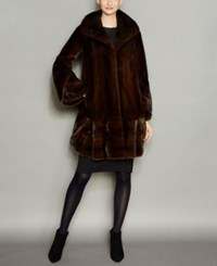 The Fur Vault Mink Coat Mahogany