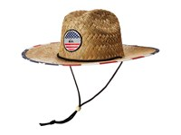 Quiksilver Outsider America Straw Lifeguard Hat Bright Cobalt Safari Hats Blue