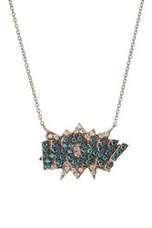 Diane Kordas Wow 18Kt Rose Gold Necklace With Diamonds Multicolor
