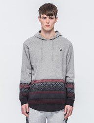Staple Fairisle Hooded Dip T Shirt