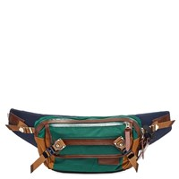 Master Piece Potential Leather Trim Waist Bag Green