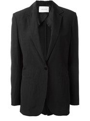 Cedric Charlier One Button Blazer Black