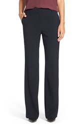 Petite Women's Ellen Tracy Slim Bootcut Trousers Navy