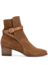 L'autre Chose Wrap Strap Boots Brown