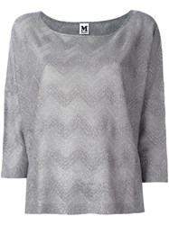 M Missoni Boat Neck Top Metallic