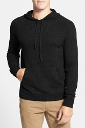 1901 Merino Wool And Cashmere Hooded Sweater Black