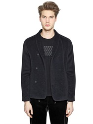 Emporio Armani Wool Blend Velour Jacket