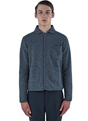 Thom Browne Bal Collared Wool Boucle Jacket Grey