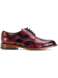 ba624caf277 Man Brush Stroke Derby Shoes Leather Red