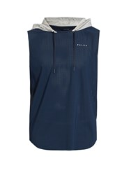 Falke Stretch Mesh Running Hooded Tank Top Navy Multi
