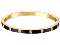 Kate Spade Set In Stone Enamel Stone Hinged Bangle Clear Black