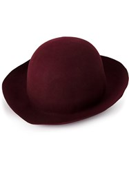 Horisaki Design And Handel Classic Fedora Hat Red