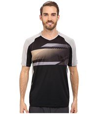 Pearl Izumi Launch Jersey Black Monument Grey Men's Workout