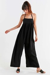 Urban Outfitters Uo Halter Wide Leg Jumpsuit Black