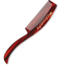 Buly 1803 Horn Effect Acetate Beard Comb Red