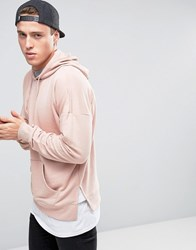 New Look Layered Hoodie In Pink Pink