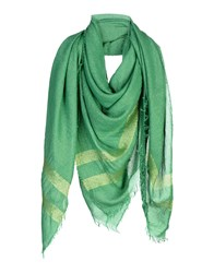 Space Style Concept Square Scarves Green