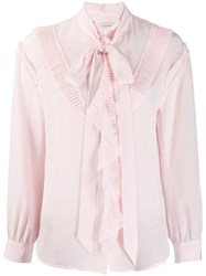 Coach Glam Rock Prairie Top With Ruffles Pink