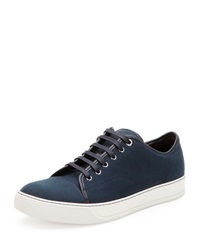 Lanvin Canvas Low Top Sneaker Navy