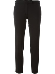 Joseph Cropped Slim Trousers Black